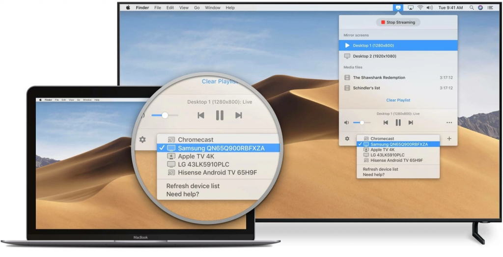 JustStream How to Mirror Mac to Samsung TV