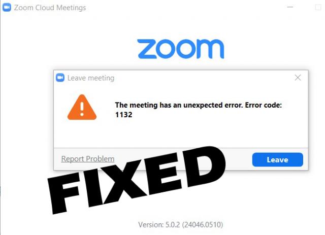 Fix Zoom Error 1132 on Windows 10