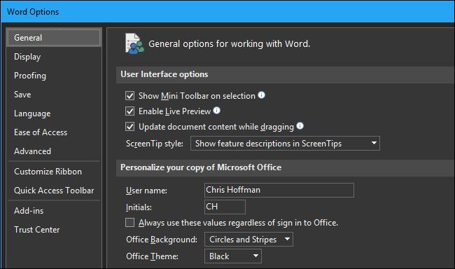 Windows 10 Dark Mode Theme