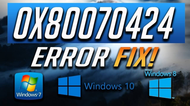 Fix: Update Error 0x80070424 on Windows 10