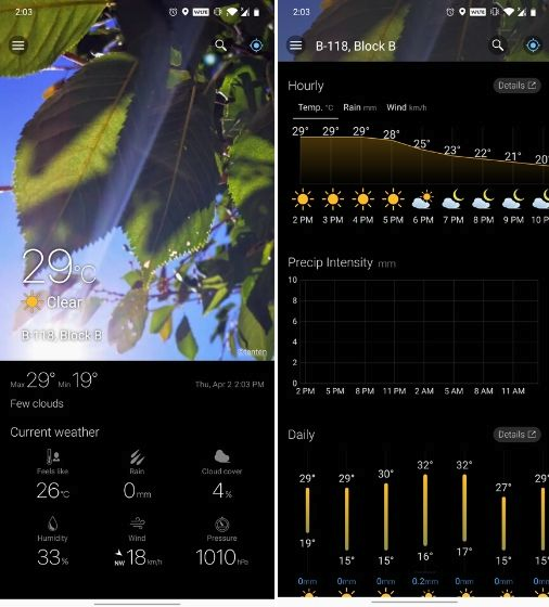 Best 11 Dark Sky App Alternatives for Android