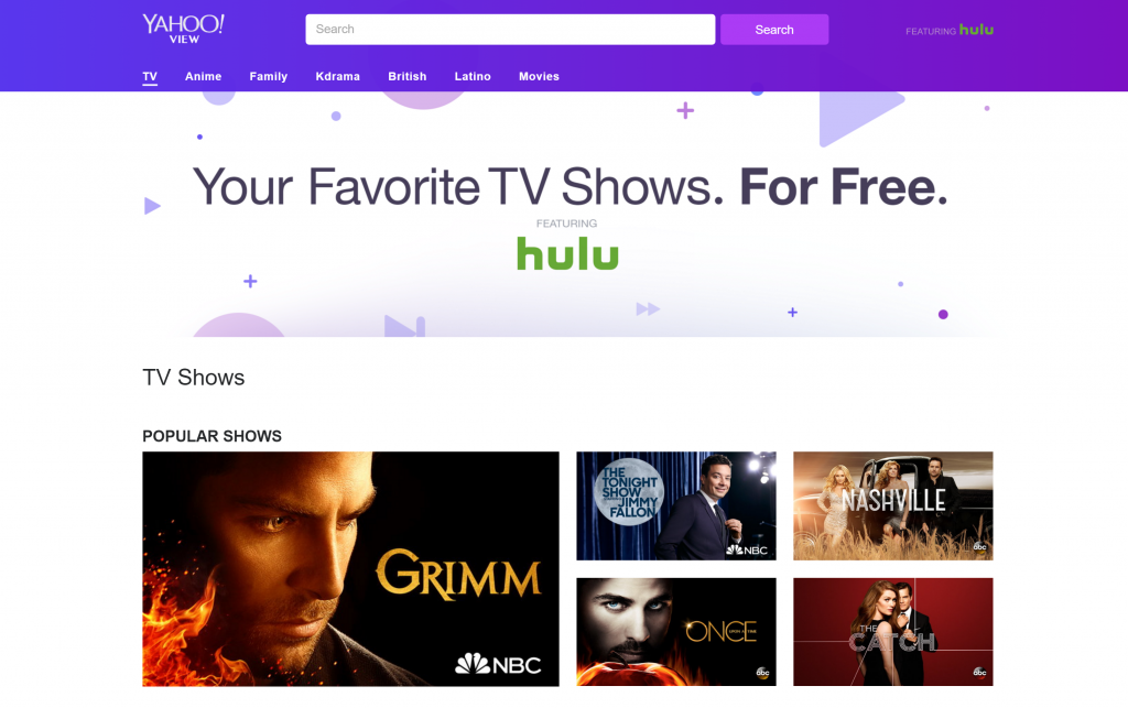 Yahoo View Watch Online Movies and TV Shows
