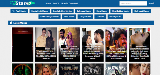 7StarHD Download Illegal HD Movies Site