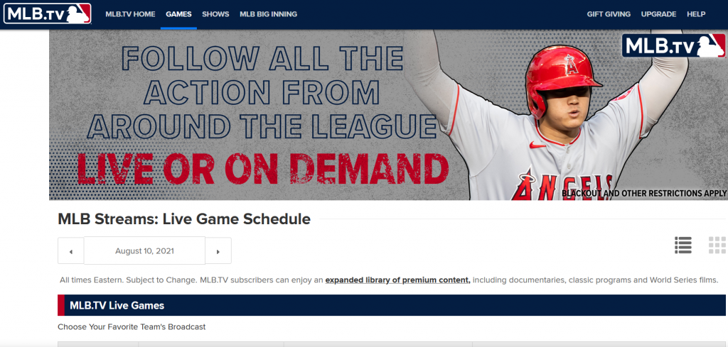 The Top 10 MLB Live Streaming Sites for Baseball Fans